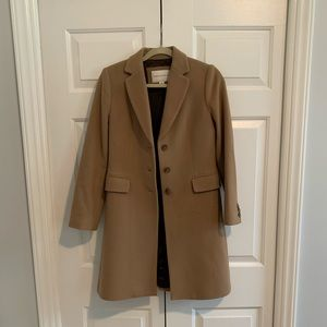 Banana Republic Tan Pea Coat